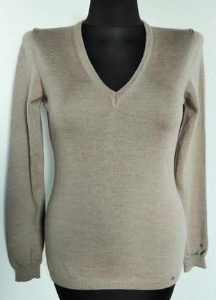 Люксовый пуловер из полированной мерино шерсти