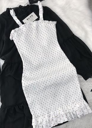 Сукня в горошок 🤍🤎