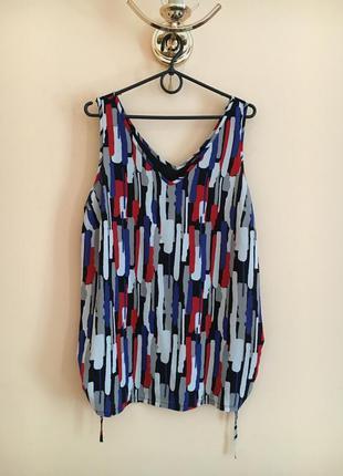 Батал большой размер легкая летняя майка маечка блуза блузочка яркая