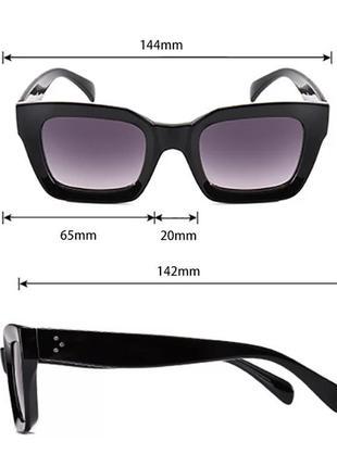 Солнцезащитные очки оливковые коричневые в стиле h&m zara6 фото