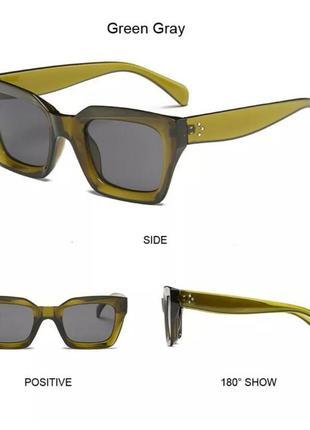 Солнцезащитные очки оливковые коричневые в стиле h&m zara10 фото