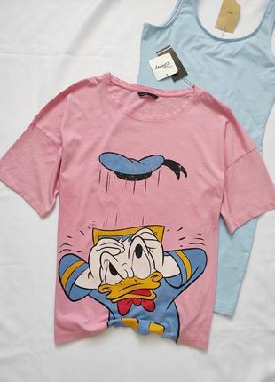 Новая женская футболка, футболка с принтом donald duck