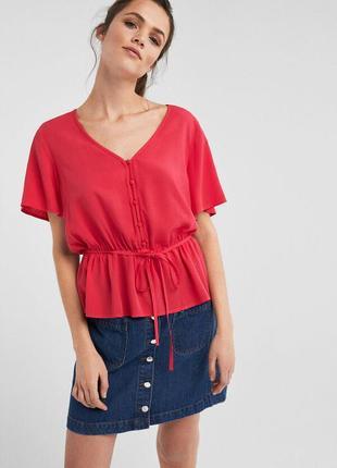 Блуза с коротким рукавом springfield , размер 40