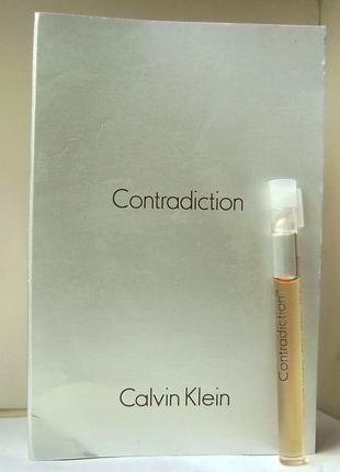 Calvin klein contradiction - edp - 1.5 мл. оригінал. вінтаж