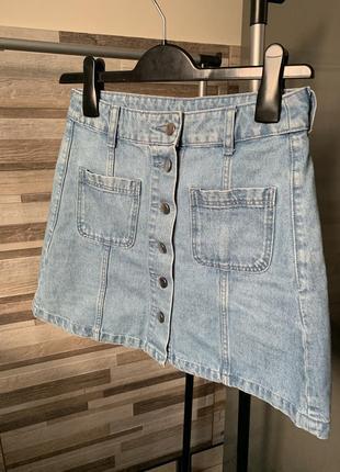 Спідниця, юбка, джинсова спідниця, джинсовая юбка divided