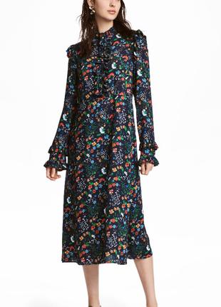 Шикарное платье из текущей коллекции h&m р 34 и 36
