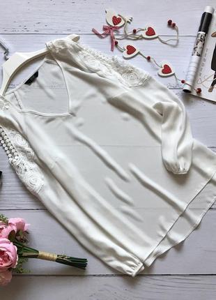 Нежная блуза с открытыми плечами f&f
