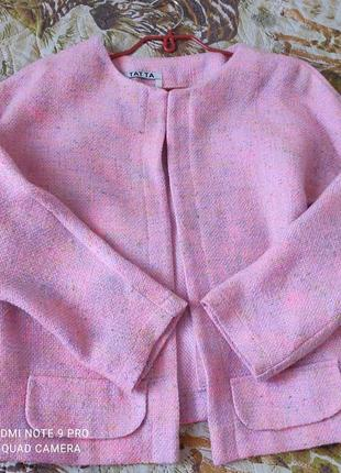 Якісний жіночий піджак жакет шанель, розмір 46-48