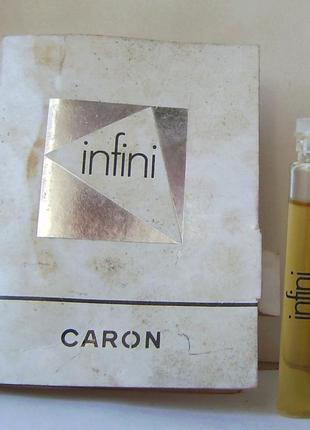 Caron infini (1970) - edt - 2 мл. орігінал. вінтаж.