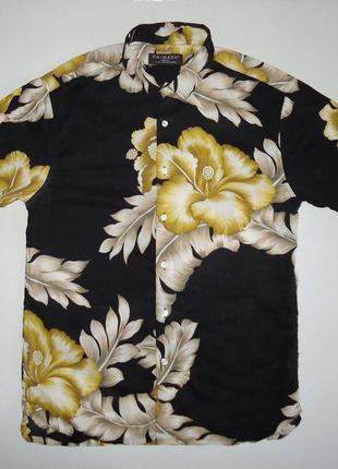 Рубашка гавайская primark легкая гавайка (s)