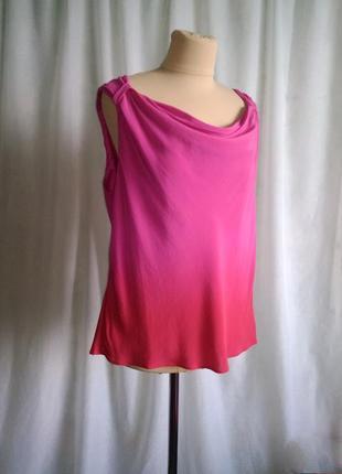Топ шёлковый розовый