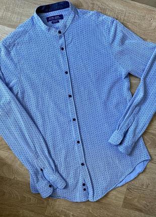 Рубашка zara идеал , slim fit