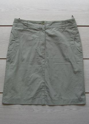 Легкая  летняя юбка хаки от authentic