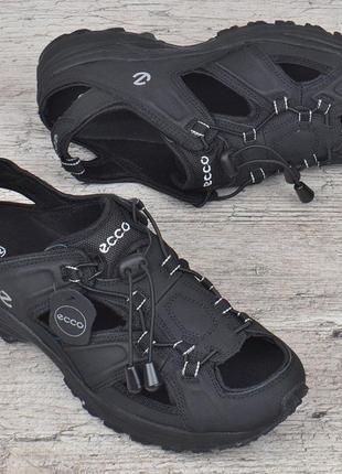 Сандалии мужские кожаные черные ecco экко кроссовки летние 41-46