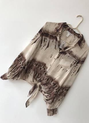 🍀 замечательная рубашка блуза с завязками dressbarn