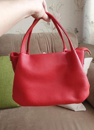 Шкіряна сумка genuine leather, італія