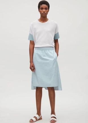 Голубая хлопковая юбка cos