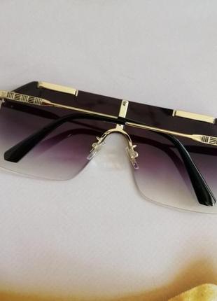 Эксклюзивные брендовые солнцезащитные очки маска  унисекс5 фото
