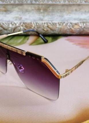 Эксклюзивные брендовые солнцезащитные очки маска  унисекс
