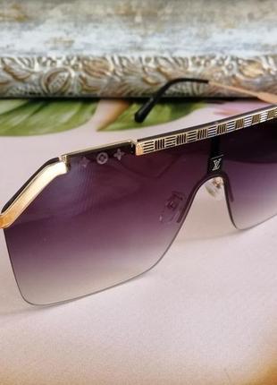 Эксклюзивные брендовые солнцезащитные очки маска  унисекс2 фото