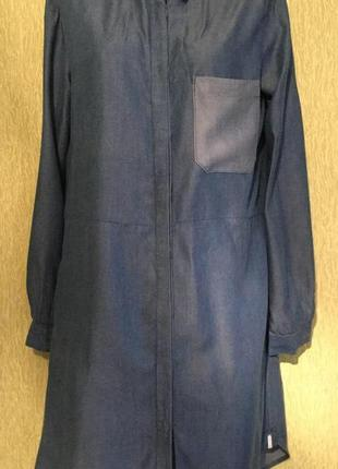 Платье рубашка джинсовое 100% тенсел distrikt размер l/xl