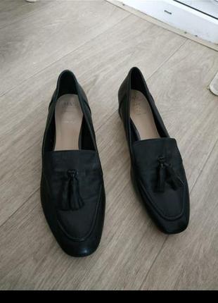 Стильные кожаные туфли-лофферы,лоферы р.41-42  кожа