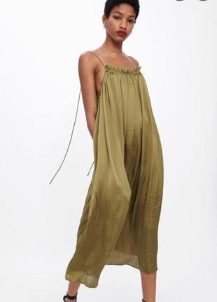 Платье сарафан миди zara