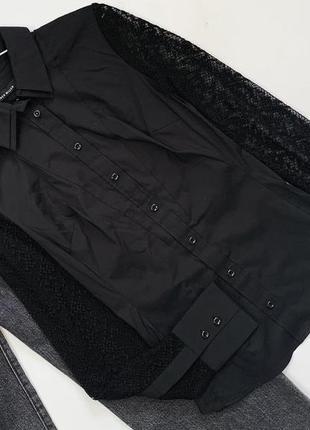 Изысканная чёрная рубашка дорогостоящего бренда karen millen