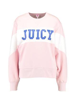 Новый оверсайз свитшот juicy couture розовый толстовка кофта свитер оригинал хлопок