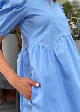 Платье сарафан коттон мини3 фото