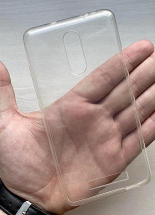 Силиконовый прозрачный чехол на для ксиоми редми ноут 3 xiaomi redmi note 3