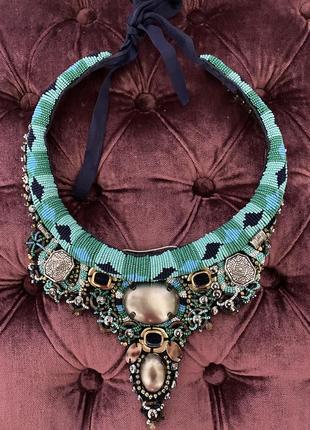 Ожерелье из бисера . идеальное состояние. все бусинки на месте.