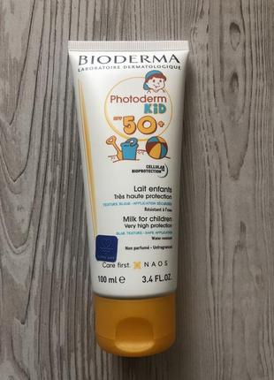 Солнцезащитное молочко для детей bioderma photoderm kid spf 50 100 мл