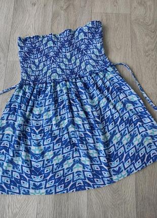 Платье бюстье сарафан пляжное хлопковое платье