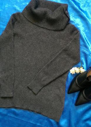 Натуральный кашимир,легкий и очень теплый серый свитер,c&a
