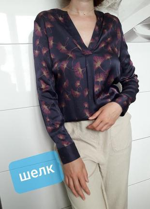 Изысканная шелковая блузка блуза натуральный шёлк mrs. hugs