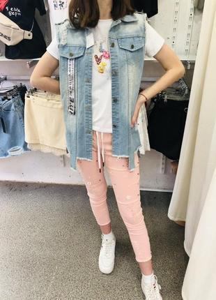 Джинсовая жилетка джинсовка