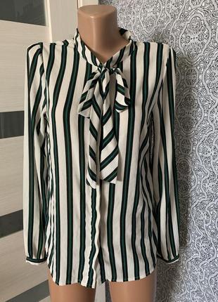 Красивая тренд рубашка в полоску vero moda