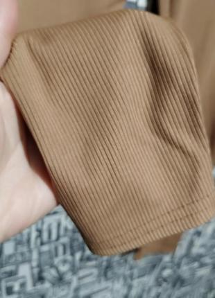 Леггинсы в рубчик, лосины от boohoo, англия, большой размер.6 фото