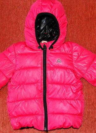 Красивая и практичная теплая куртка hm, 86 размер, большемерит