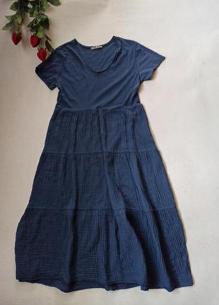 Красивое, лёгкое  ярусное платье .