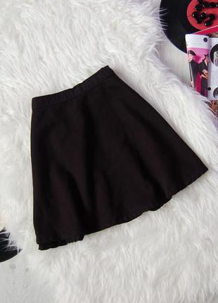 Черная джинсовая юбка-солнце | american aparel jeans |