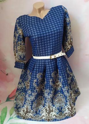 Роскошное платье с поясом
