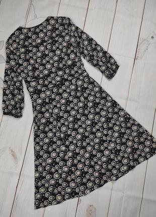 Платье миди изысканное вискоза в принт boden uk 12/40/m