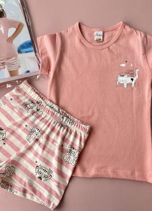 Детская пижама, в комплекте футболка + шорты