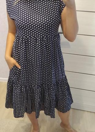 Платье штапель рюши