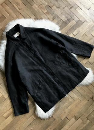 Винтажный льняной жакет-рубашка  оверсайз