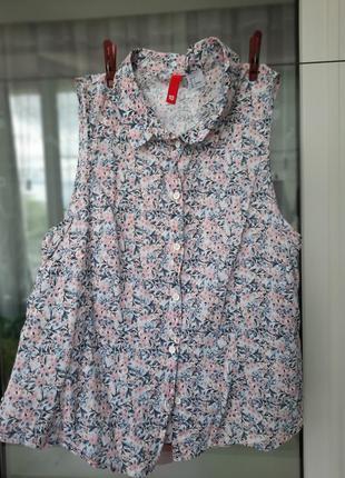 Блуза в мелкий цветочек h&m