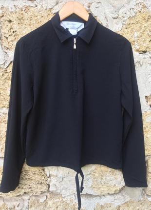 Итальянская черная блуза премиум бренда max mara
