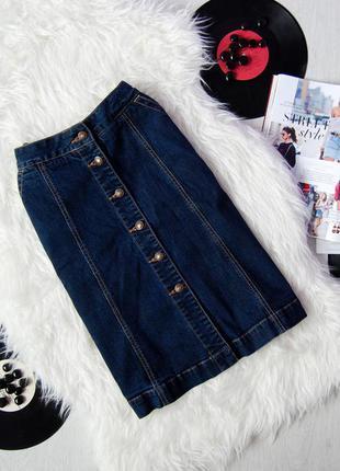 Базовая джинсовая юбка c пуговицами | gap jeans |